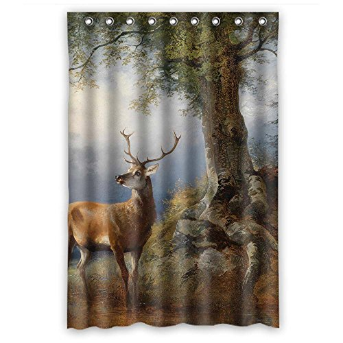 MaSoyy Bath Curtains Width X Height / 48 X 72 Inches / W H 120 By 180 Cm(fabric) Nice Choice For Boys Bf Girls Hotel Custom. Wipe Clean Beautiful Scenery Landscape Painting Polyester