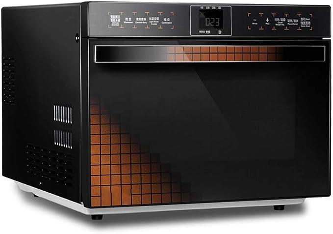 Horno de microondas compacto con la conversión de frecuencia inteligente, sensor de cocción, horno de calentamiento rápido, de acero inoxidable de la pantalla táctil Operación, 25 litros: Amazon.es: Hogar
