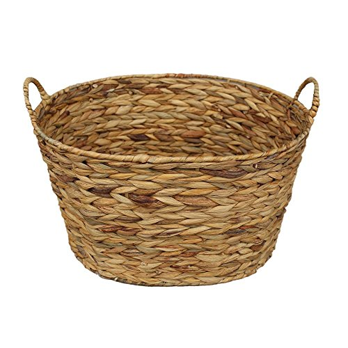 Oval Woven Water Hyacinth Storage Basket by Red Hamper