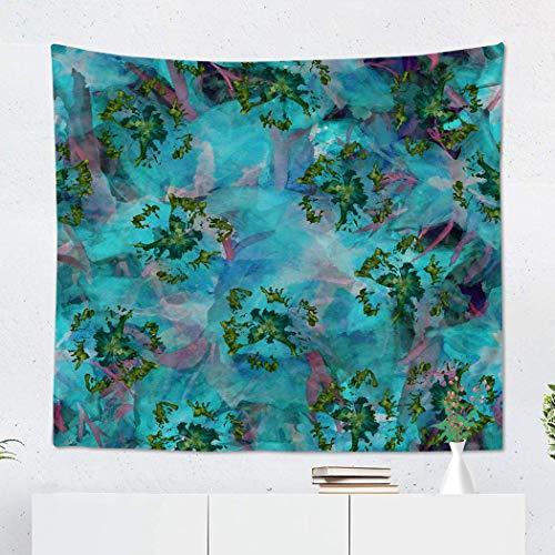 (Suklly Tapestry Wall Hanging Polyester Artistic Tie Dye Imitation of Shibori Batik Watercolor Floral Silk Calico Boho Home Decor Living Room Bedroom Dorm 60 x 80 inches Picnic Mat Beach Towel)