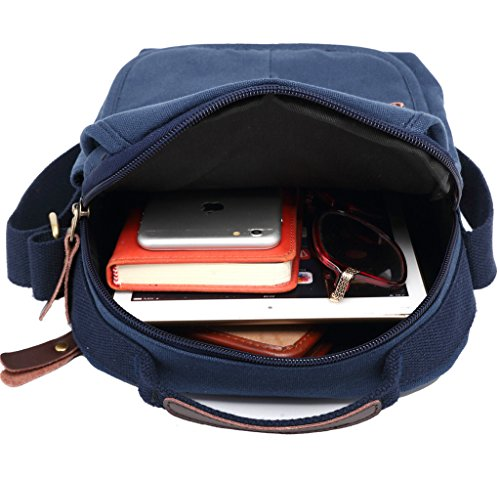 Super moderno lienzo bolsa de mensajero hombro bolsa Crossbody Bolsa Satchel Bag Bookbag Escuela Bolsa De Trabajo Bolsa para Hombres y Mujeres, hombre, negro negro