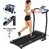 ANCHEER Folding Treadmill, Electric Motorized Treadmill with LCD Monitor, Walking Jogging Running Machine Trainer Equipment for Home & Office Workout Indoor Exercise Machine