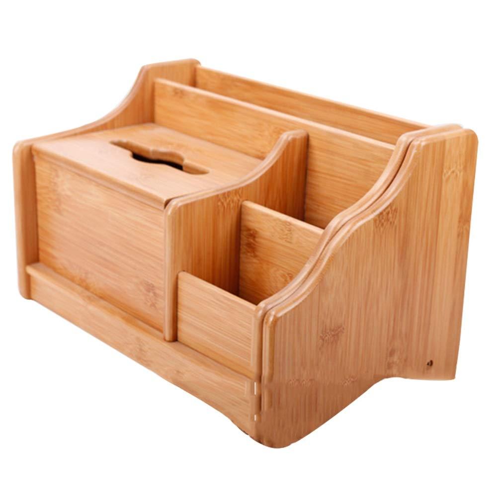 収納ボックス、収納ボックス 竹リモコンティッシュボックスボックスカートンボックスホーム収納ボックス紙箱ボックスデスクトップ本棚木製 シンプルなスタイルはとても人目を引く (色 : ナチュラル) B07S17VVKM ナチュラル