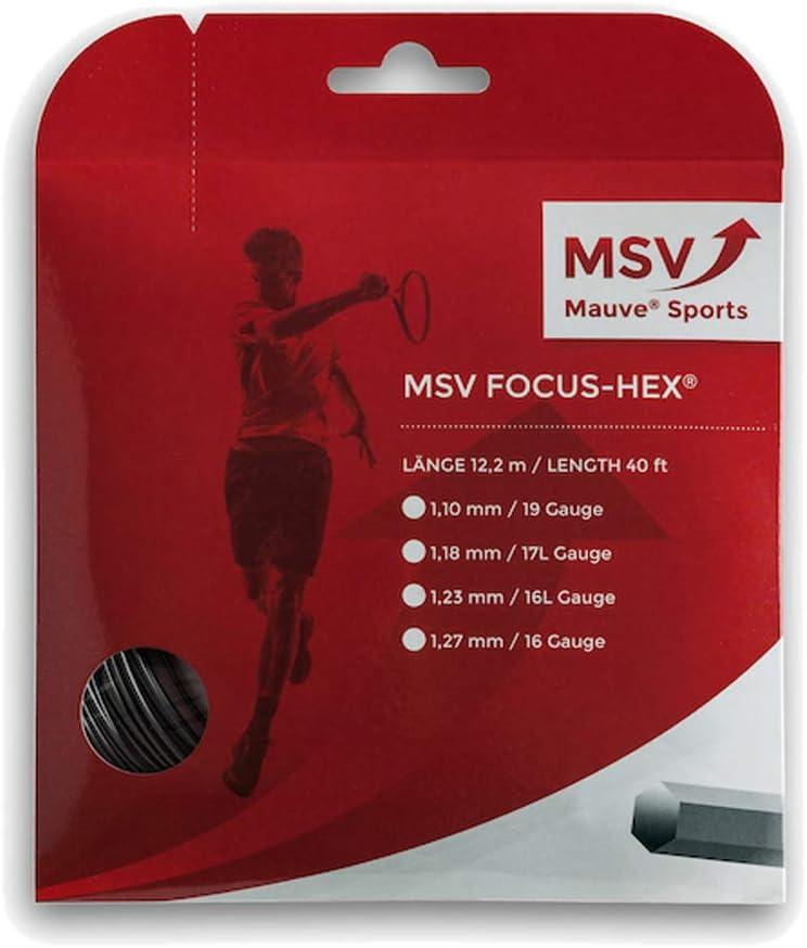 MSV Focus Hex 12m Noir Tennis Cordaje
