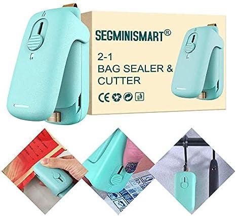 GuGIo Portable Mini Sealing Machine Heat Plastic Bag Sealers,Random Color