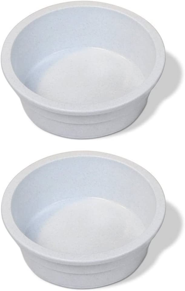 Pureness Heavyweight Large Crock Pet Dish, 52-Ounce, Colors May Vary [2-Pack]
