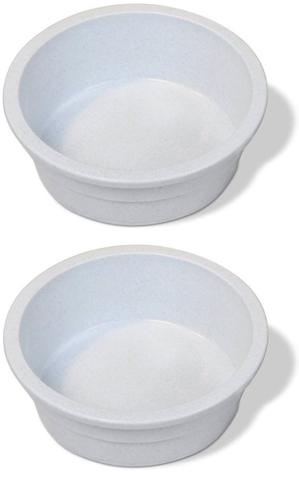 Pureness Heavyweight Large Crock Pet Dish, 52-Ounce, Colors May Vary [2-Pack] by Van Ness