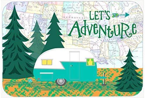 Caroline's Treasures VHA3003MP Let's Adventure Glamping Trailer Mouse Pad, Hot Pad or Trivet, Large, Multicolor [並行輸入品]