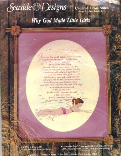 5fa1b14f855da Amazon.com  Why God Made Little Girls Counted Cross Stitch Kit