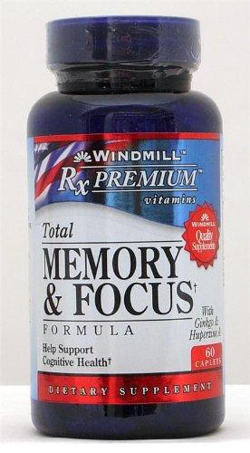 RxPremium Memory & Focus Formula Caplets, 60 Count