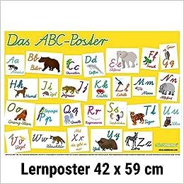 Mindmemo Lernposter Das Tier Abc Poster Fur Kinder In