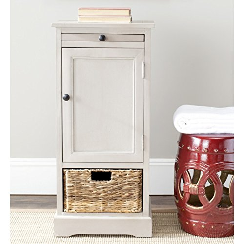 (Safavieh American Homes Collection Raven Vintage Grey Tall Storage Unit)