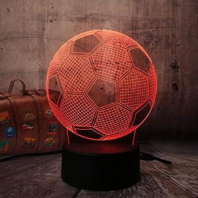 3D Soccer LED Decoración del hogar Lámpara para dormir para niños ...