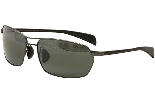 Occhiali da sole polarizzati Maui Jim modello Grey Maliko Gulch Gunmetal 324-02D