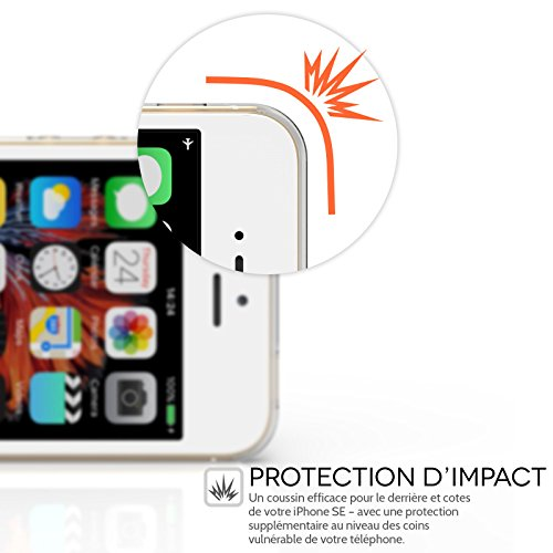 Yousave Accessories Coque iPhone SE Etui Clair Ultra-Mince Silicone Gel Housse