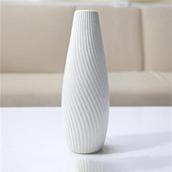 jack mall jarrones de cermica blanca minimalistas modernas de flores secas mesa de la sala - Jarrones Modernos