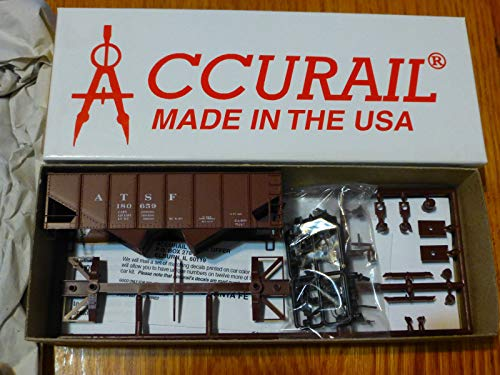Accurail - USRA 2-Bay 55-Ton Open Hopper - Kit -- Santa Fe (Oxide) - HO