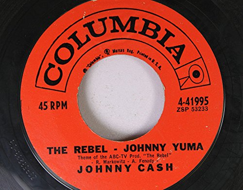 Johnny Cash 45 RPM The Rebel Johnny Yuma / Forty Shades of Green