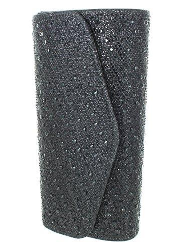 Studded Evening Black With Party Clutch Ladies Rhinestone Strap Heels Chain Purse Urban FAITH Wedding qTaYcw