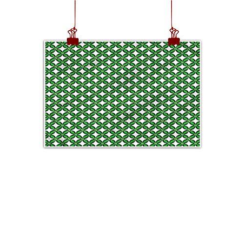 Squares Giclee Set - Sunset glow Simple Life Minimalist Emerald,Diagonal Square Mesh Design 32