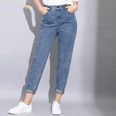 Ncaykl Loose Harem Vintage Jeans Woman High Waist Light Blue Boyfriend Jeans For Women Skinny Pencil Women S Jeans Cowboy Pants Amazon Co Uk Sports Outdoors