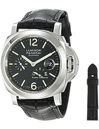 Men's PAM00090 Luminor Power Reserve Black Dial Watch