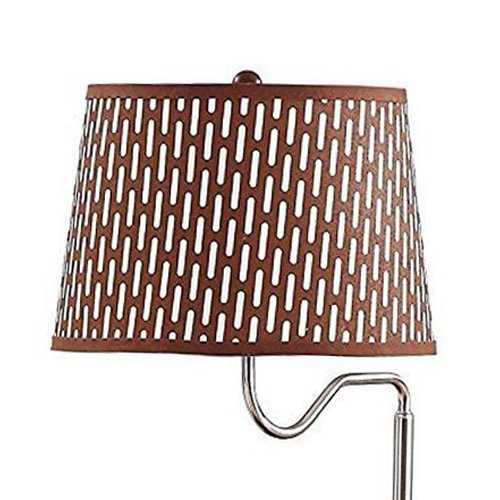Brightech - Madison LED Floor Lamp with USB Charging Ports - Mid Century Modern Bedside Nighstand Table - End Table with Shelves for Living Room Sofas - Havana Brown