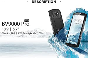 "Blackview BV9000 Pro Smartphone 5.7"" 18:9 HD+ Full Screen IP68 Waterproof 6GB+128GB Helio P25 Octa Core 4180mAH NFC Mobile Phone"