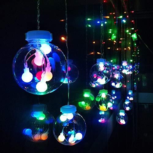 Party Diy Decorations - 2 5m Christmas Ball String Lights Backyard Patio Outdoor Garland Wedding Festive Diy Decorative Xmas - Wedding Grass Outdoor Garden Ivy Home Items 3d Vine Head -