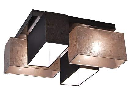 Plafoniere Con Base In Legno : Plafoniera illuminazione a soffitto in legno massiccio jls d