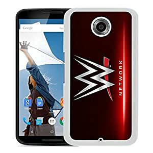 Beautiful Designed Cover Case For Google Nexus 6 With WWE Network White Phone Case