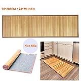 Nisorpa Natural Bamboo Mat Large Bamboo Floor