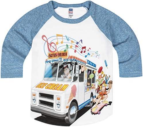 Shirts That Go Little Boys` Ice Cream Truck Raglan T-Shirt