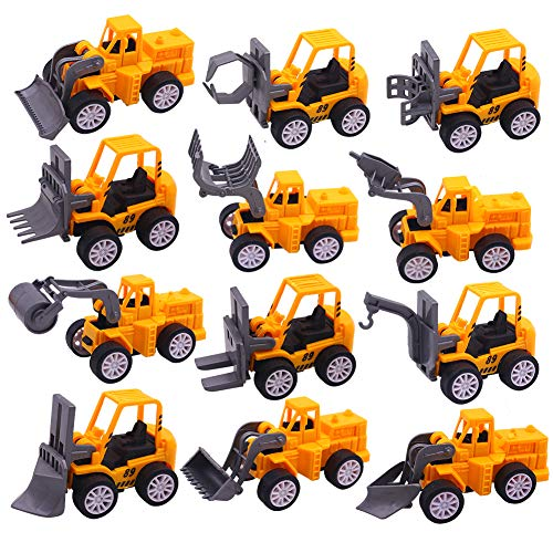 12 MINI CONSTRUCTION VEHICLES
