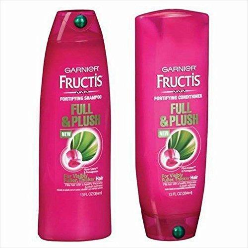 Garnier Shampoo And Conditioner (Garnier Fructis Full and Plush Shampoo and Conditioner Bundle - Net Wt. 13 Fl Oz (384 Ml) Each - One)