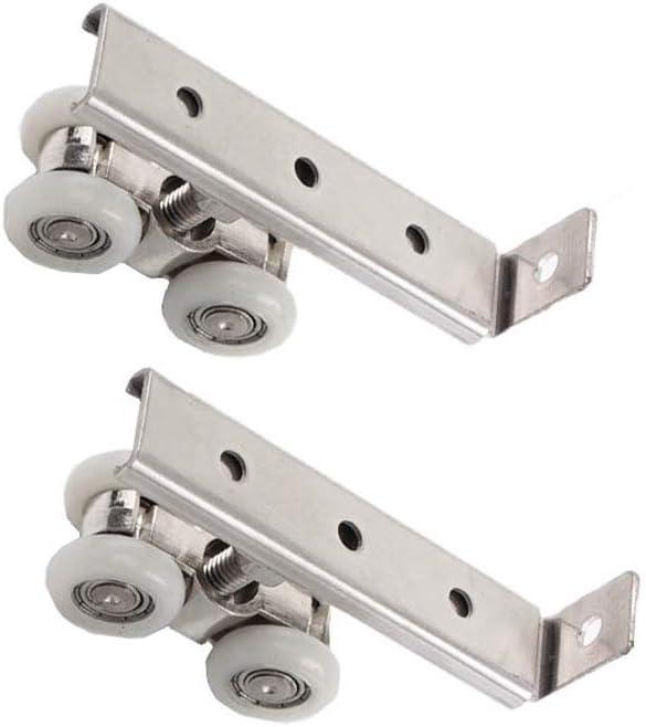 ruedas para puerta corredera de cristal para colgar en la ducha, puerta corredera, rueda de puerta corredera, accesorios de ducha colgantes redondos, rueda de acero inoxidable para colgar