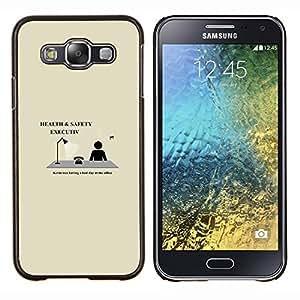 LECELL--Funda protectora / Cubierta / Piel For Samsung Galaxy E5 E500 -- Salud y Seguridad Ejecutiva divertido --