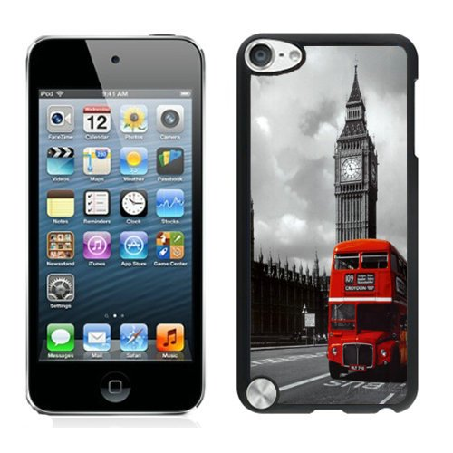 Bus Ipod - London Red Bus iPod Touch 5 Case Black Cover