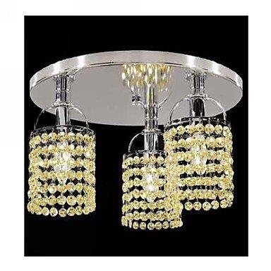 ZQ Creative personality Mini Alfa Strass Crystal Flush Mount Three Lights , 110-120V-Yellow