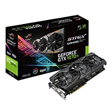 ASUS ROG Strix GeForce® GTX 1070 Ti 8GB GDDR5 Advanced Edition VR Ready DP HDMI DVI Gaming Graphics Card (ROG-STRIX-GTX1070TI-A8G-GAMING)