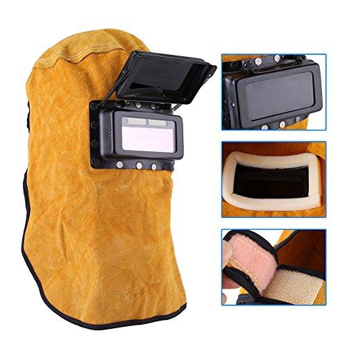 자동 어두워지는 필터 렌즈, 가죽 마스크와 용접 헬멧 보호 마스크 내구성 좋은 품질 / Automatic darkening filter lens, leather mask and welding helmet protection mask durable