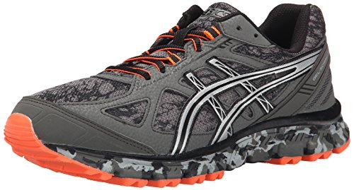 ASICS Men's Gel Scram 2 Running Shoe, Gunmetal/Silver/Hot Orange, 8.5 M US