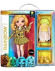 Rainbow High Fashion Doll - Verzamelbaar speelgoed voor kids - met 2 outfits voor Mix & Match en poppen accessoires - Leuk cadeau voor kinderen van 6-12 jaar, SHERYL MEYER - Marigold (Geel)