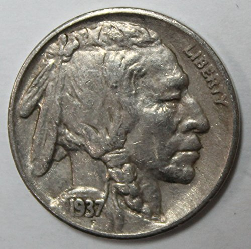 - 1937 S Buffalo Nickel 5c Extremely Fine-About Uncirculated