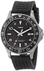 Timex Men's T2P029KW Ameritus Watch with Black Silicone Strap