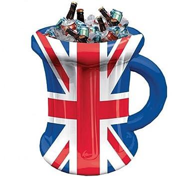 Jarra de cerveza hinchable de Gran Bretaña - 45cm: Amazon.es ...
