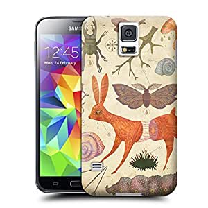 Unique Phone Case Animal personality patterns A biology diagram drawing by Vladimir Stankovic of a bunny caterpillar and other creatures Hard Cover for samsung galaxy s5 cases-buythecase