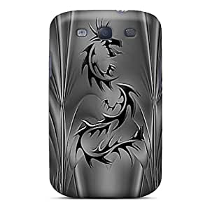 High Impact Dirt/shock Proof Case Cover For Galaxy S3 (black Dragon)