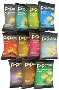 Popchips 11-Flavor Variety Count, 0.8-oz. Single Serve Bags (Count of 24)