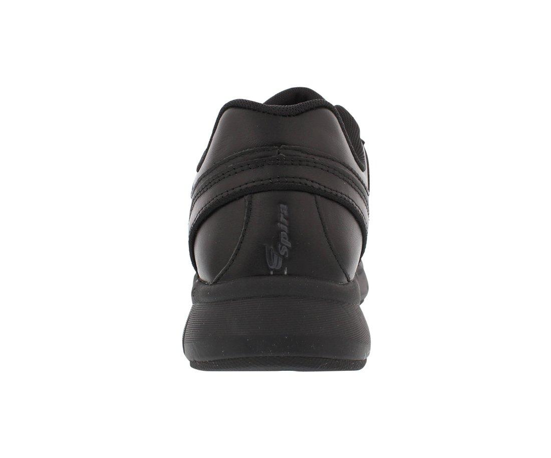 Spira WaveWalker Men's Slip Resistant Walking Shoe B07B9PCSYH 7 4E US|Black